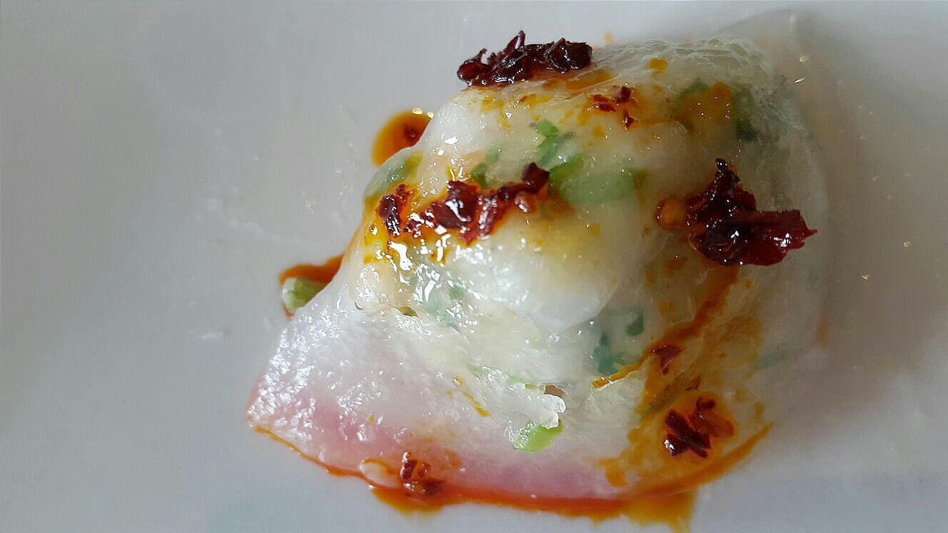 Prawn and chive dumpling