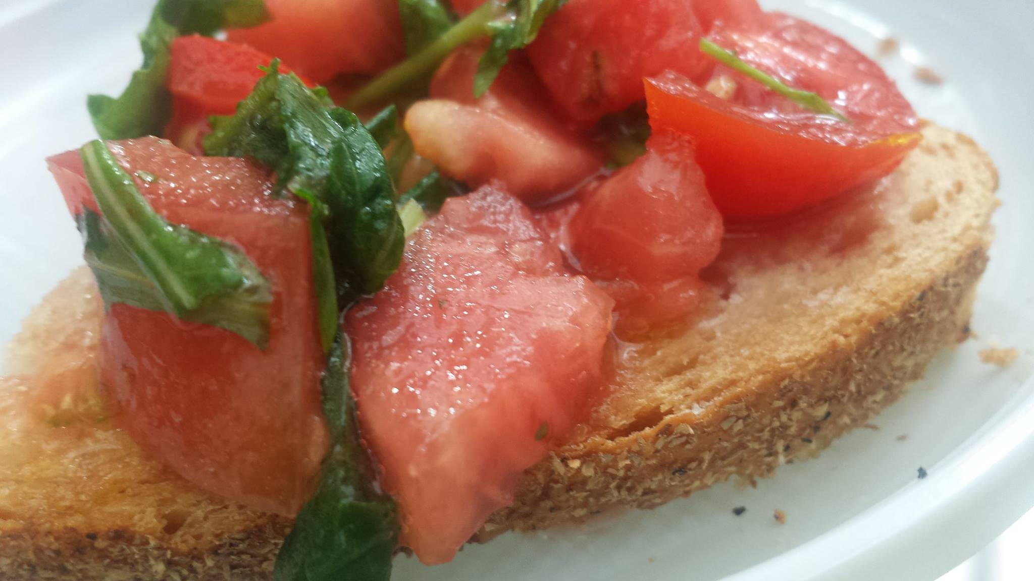 We made ... and ate the best bruschetta in the world. Why can't our tomatoes taste like this?