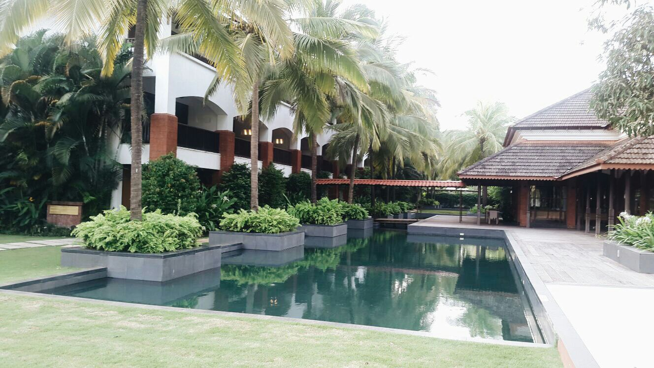 The main restaurant block at the hotel